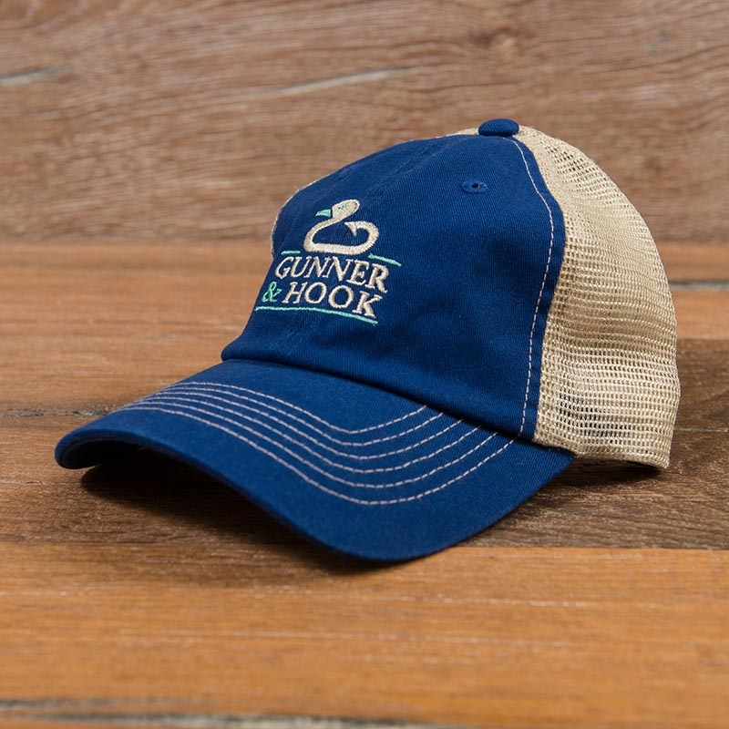 Gunner & Hook trucker hat blue