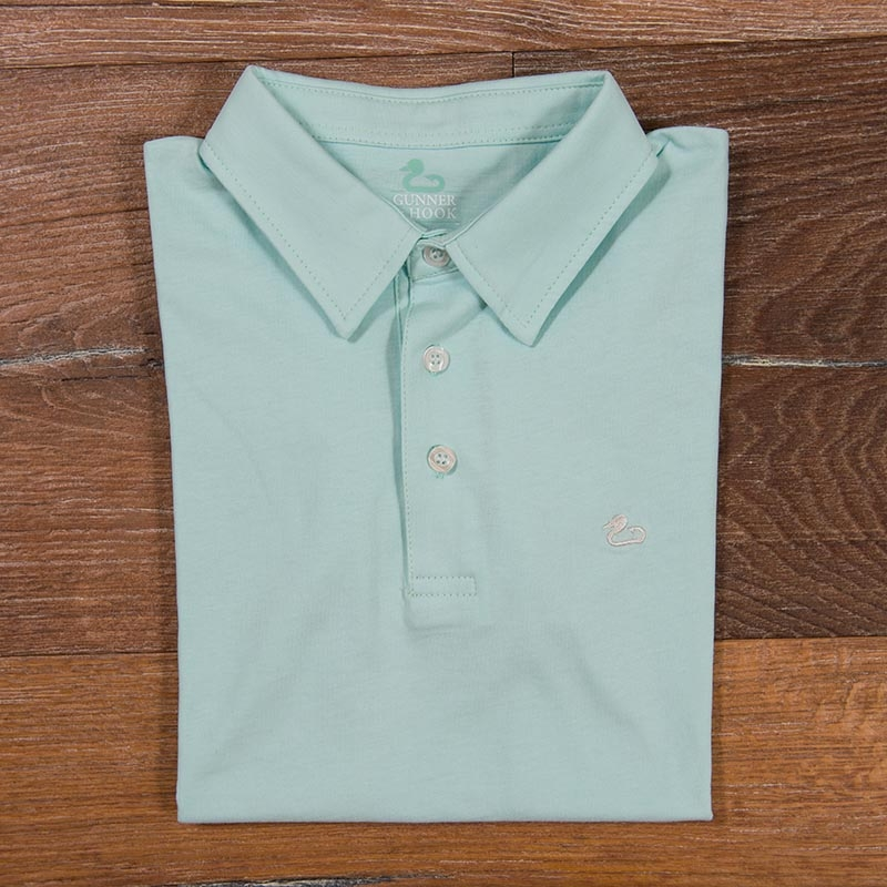 Gunner & Hook polo cotton antigua green