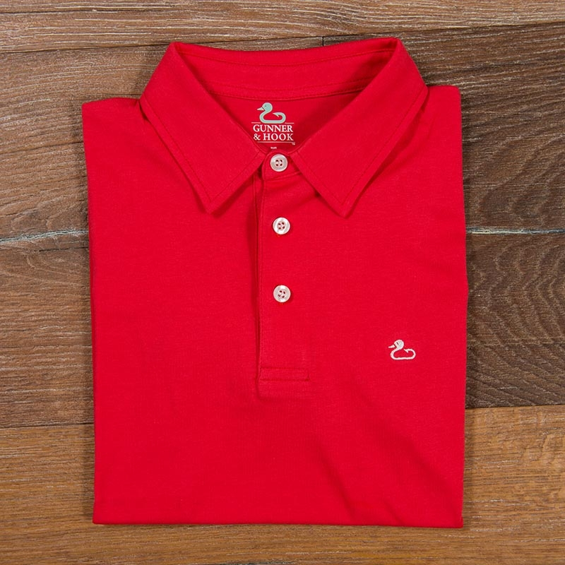 Gunner & Hook polo cotton red