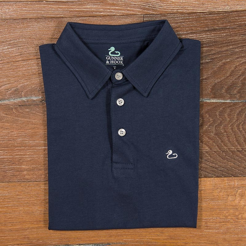 Gunner & Hook polo cotton navy
