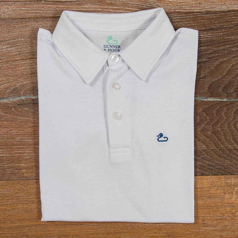 Gunner & Hook polo cotton white