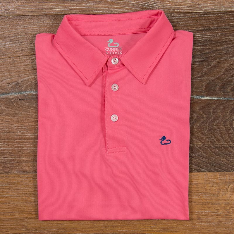 Gunner & Hook polos performance coral