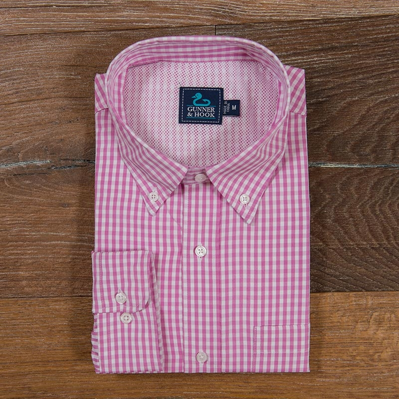 Gunner & Hook fishing shirt hatteras pink