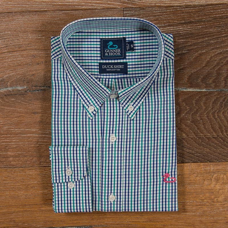 Gunner & Hook sport shirt chesapeake mint blue