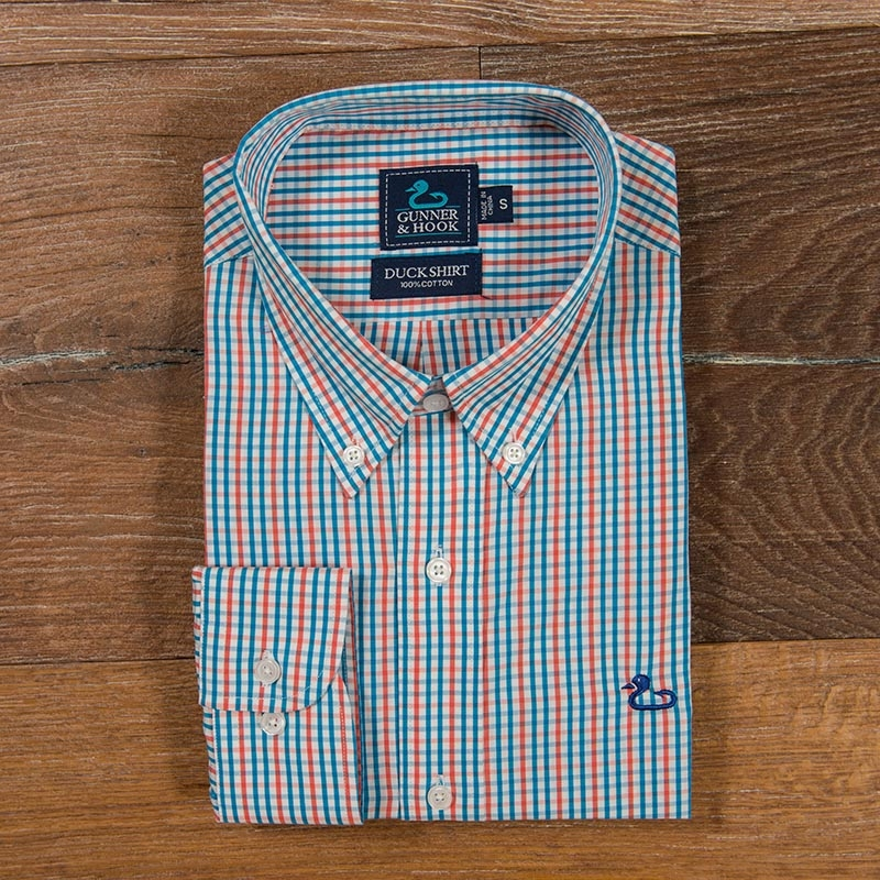 Gunner & Hook sport shirt chesapeake salmon blue