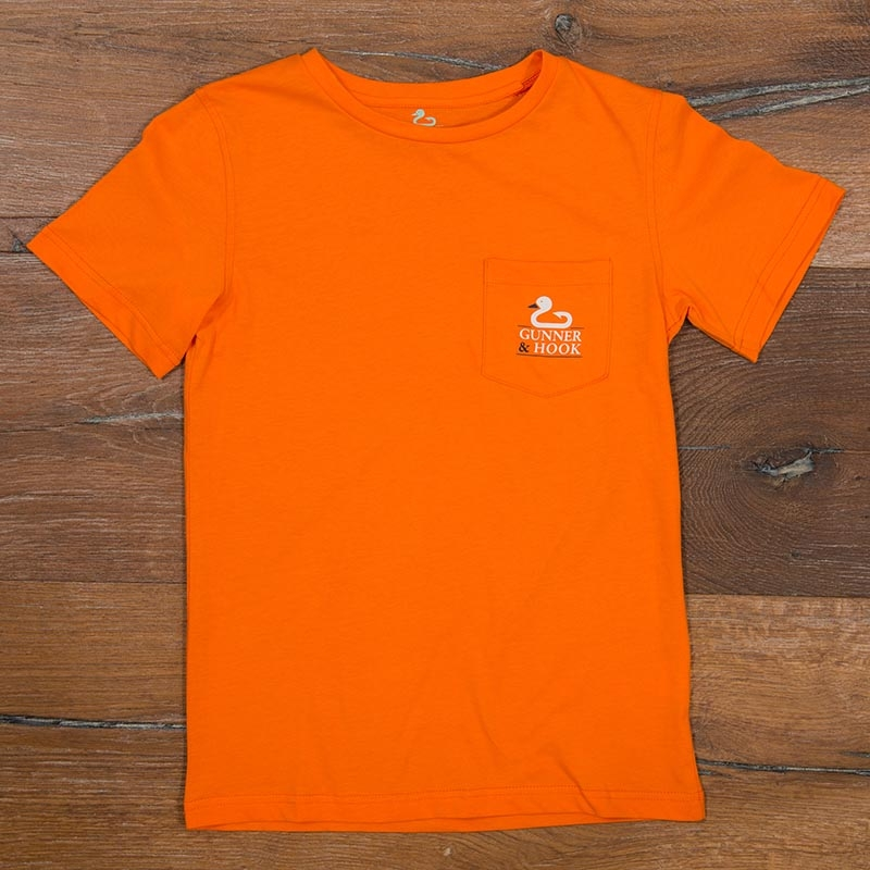 Gunner & Hook t-shirt cotton original orange front