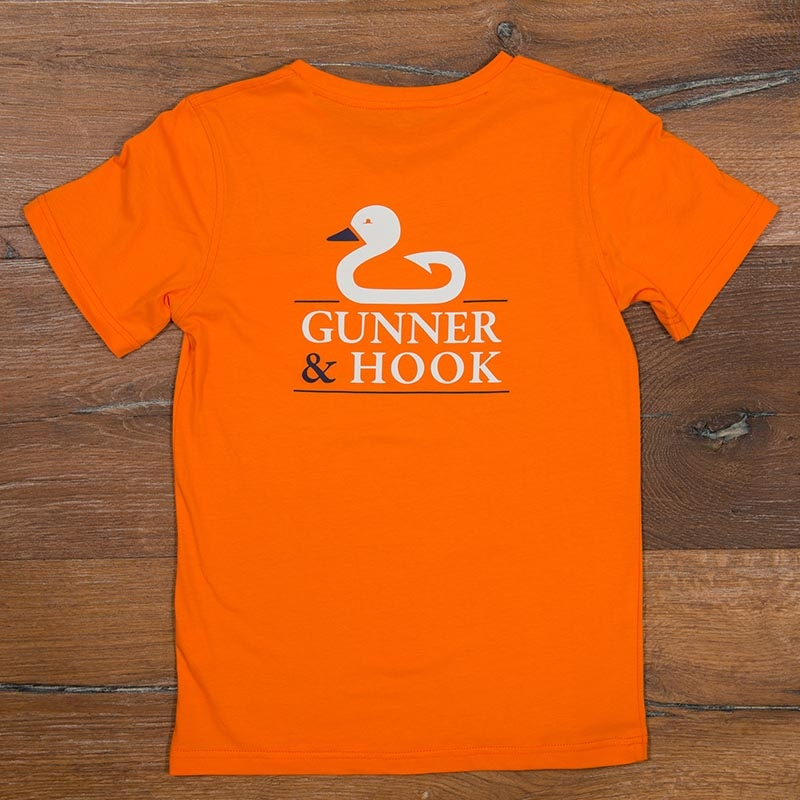 Gunner & Hook t-shirt cotton original orange back