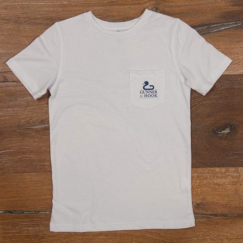 Gunner & Hook t-shirt cotton original white front