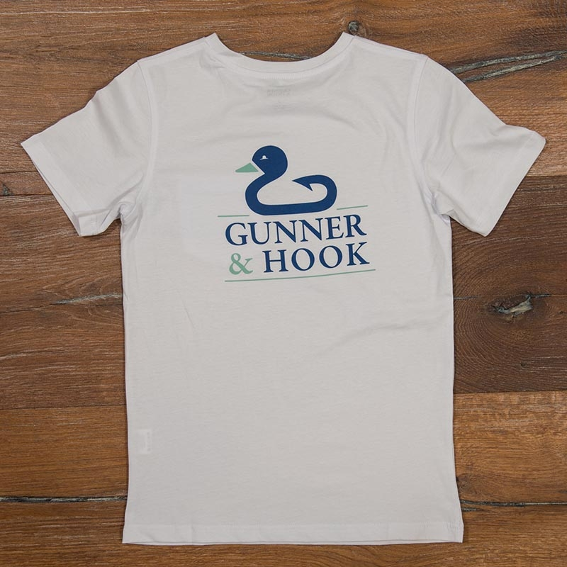 Gunner & Hook t-shirt cotton original white back