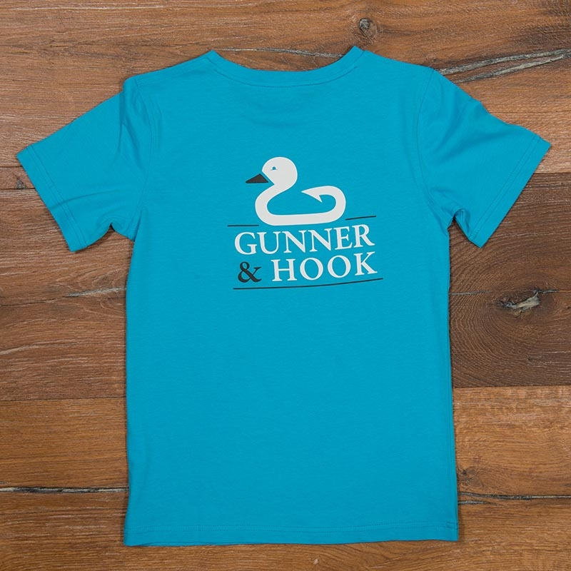 Gunner & Hook t-shirt cotton original ocean blue back