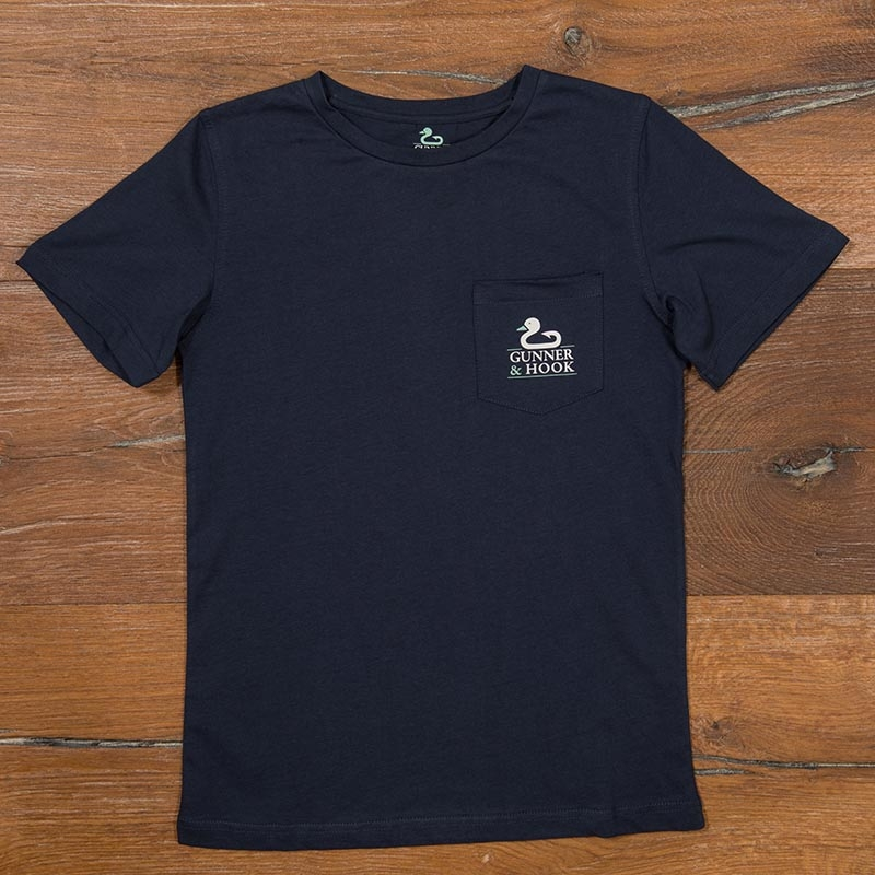 Gunner & Hook t-shirt cotton original navy front