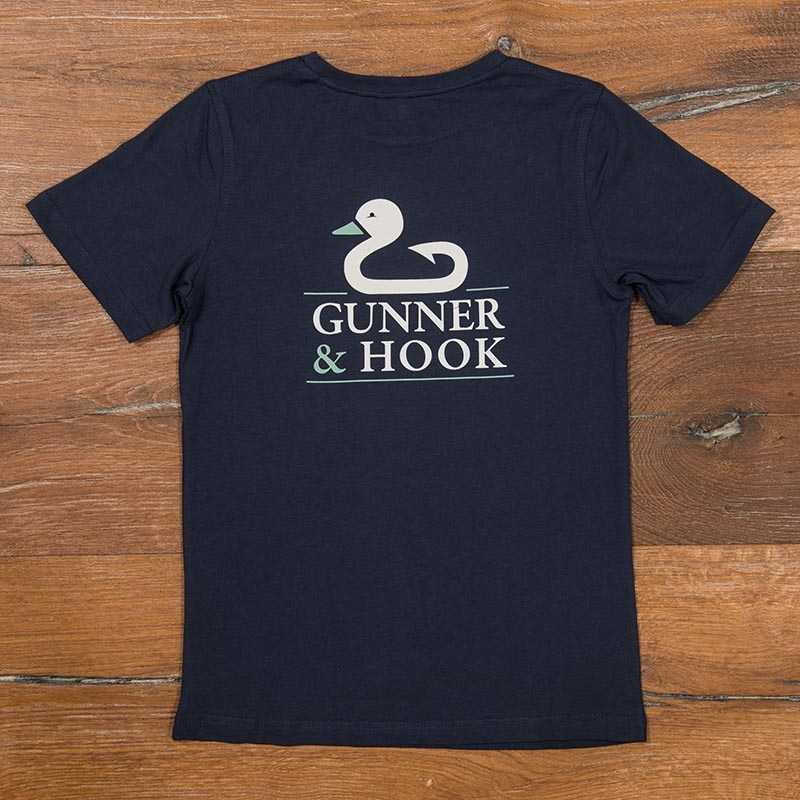 Gunner & Hook t-shirt cotton original navy back