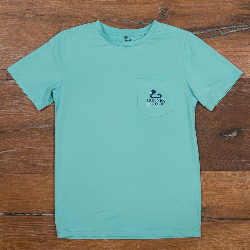 Gunner & Hook t-shirt performance original gulf stream green front