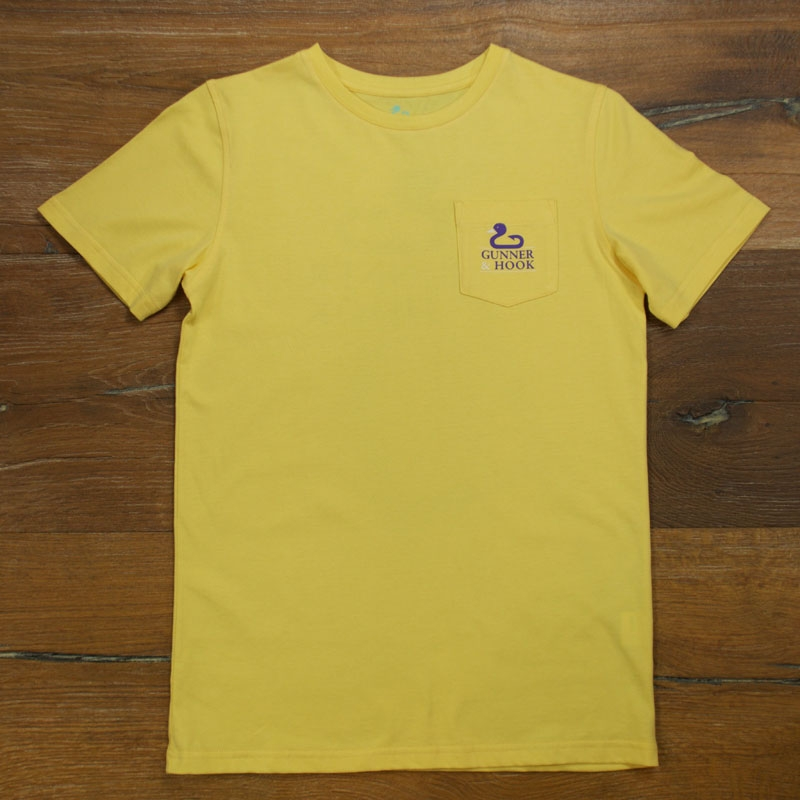 Gunner & Hook t-shirt cotton original yellow front