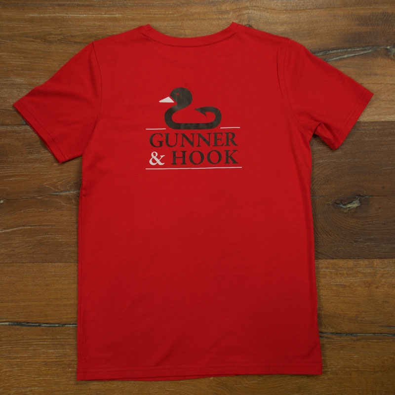 Gunner & Hook t-shirt cotton original red front