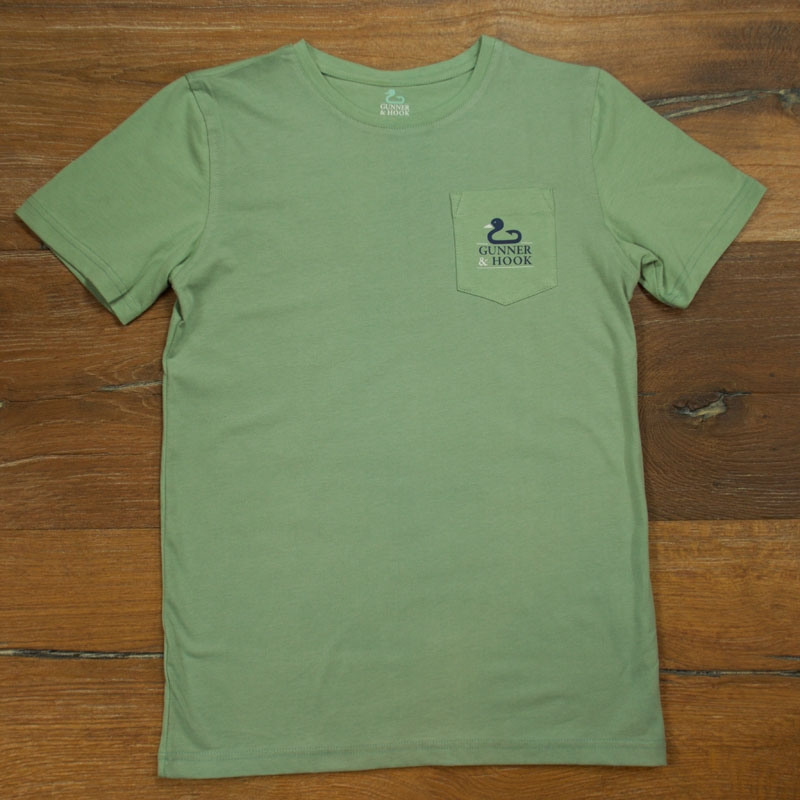 Gunner & Hook t-shirt cotton original green front