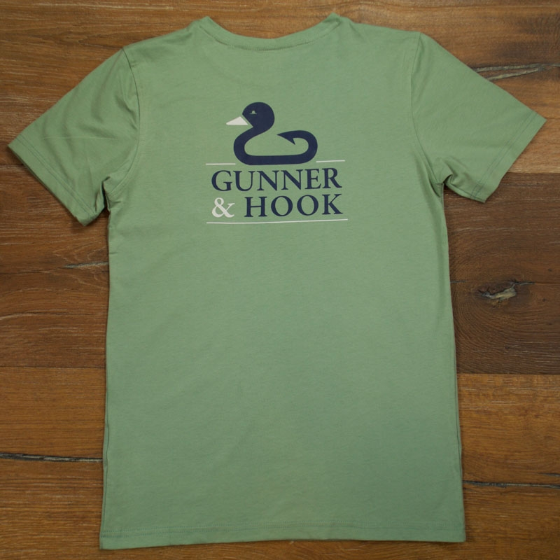 Gunner & Hook t-shirt cotton original green back