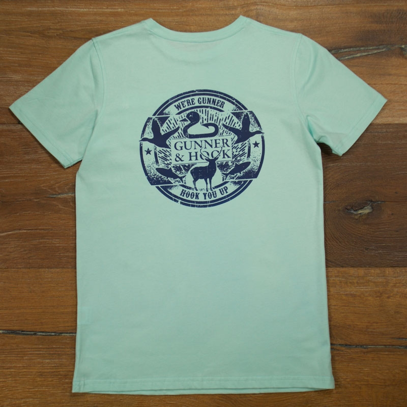 Gunner & Hook t-shirt cotton mint back