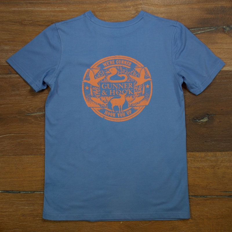 Gunner & Hook t-shirt cotton blue front