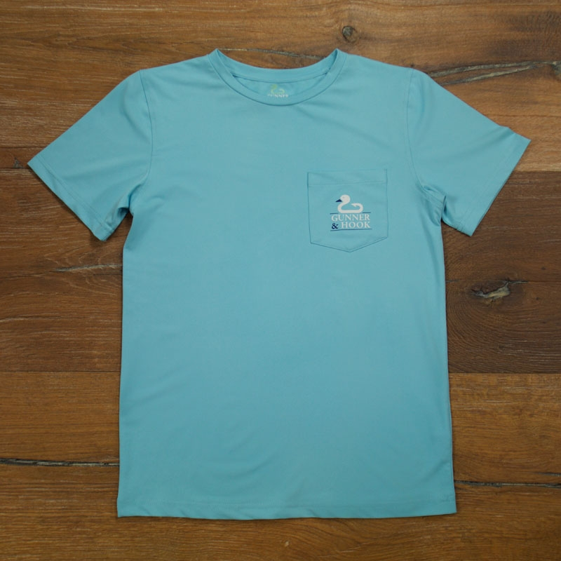 Gunner & Hook t-shirt performance original ocean blue front