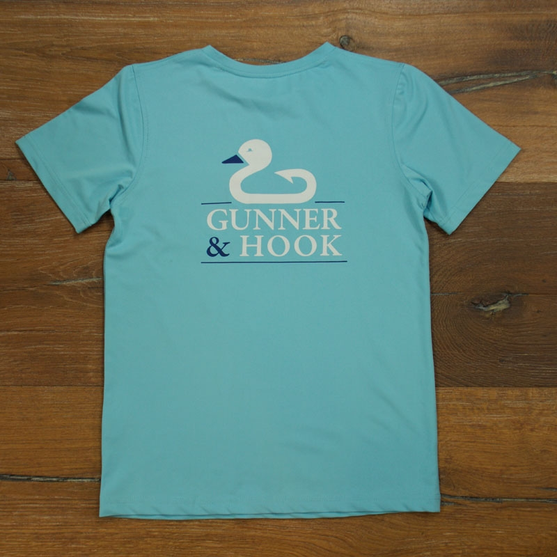 Gunner & Hook t-shirt performance original ocean blue back