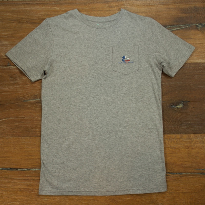 Gunner & Hook t-shirt cotton texas grey front